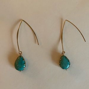 Jewelry - Teal stone earrings